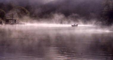 Alsea Boat in the Mist